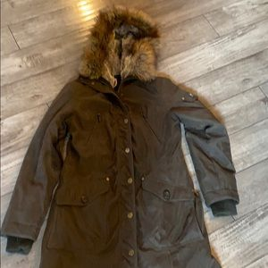 1 Madison army green coat/parka with hood
